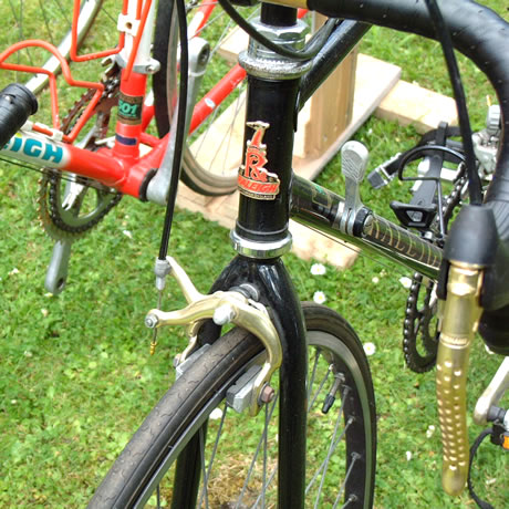 Black Raleigh Bike Frame